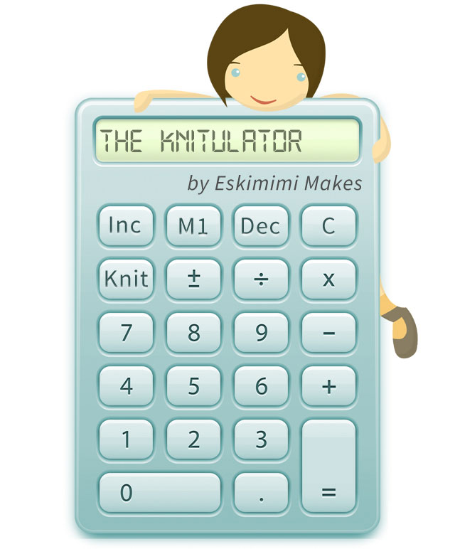Eskimimi s Knitulator knitting increase and decrease calculator Eskimimi Makes
