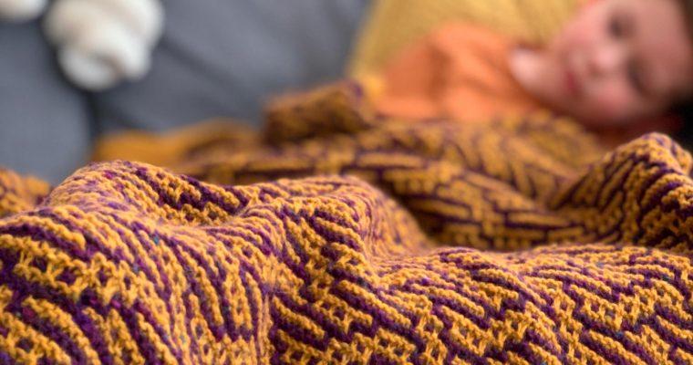 Malia Mosaic Knitted Blanket: New Pattern Release