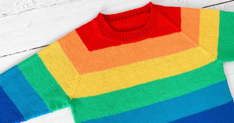 A Beautiful Difficult Return To Knitting: Rainbow Sweater